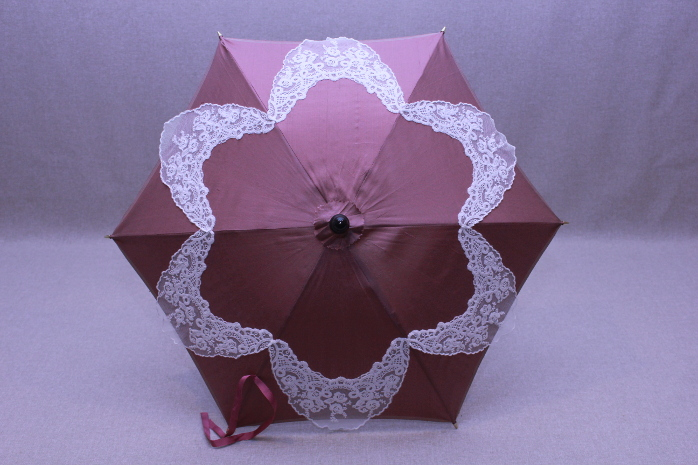 Parasol - Dusty Rose/Ivory Lace