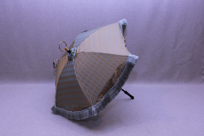 Parasol - Gold and Teal Dagged