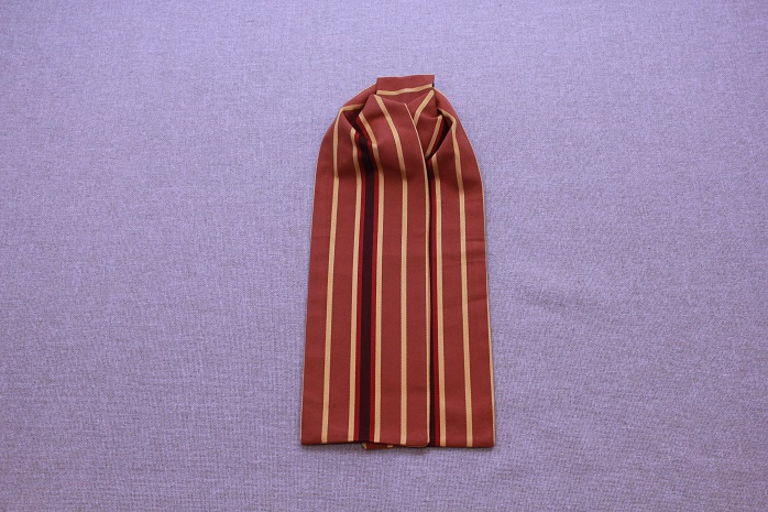 Cravat - Gold, Rust Cinnamon, Red Stripe