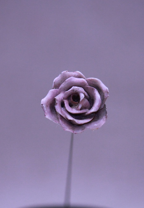 Hat Pin Antique Ceramic Rose
